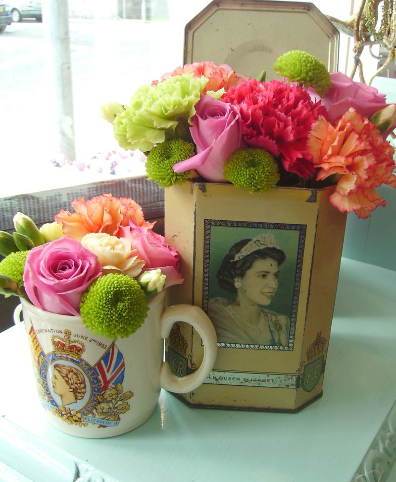 vintage tins with flowers flourish aberdeen