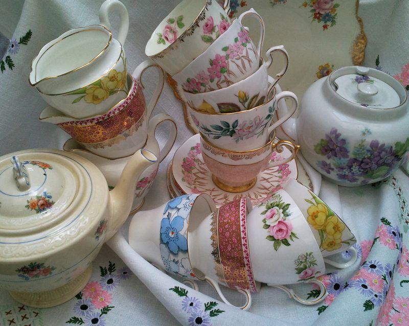 vintage china, vintage china hire, china hire flourish aberdeen