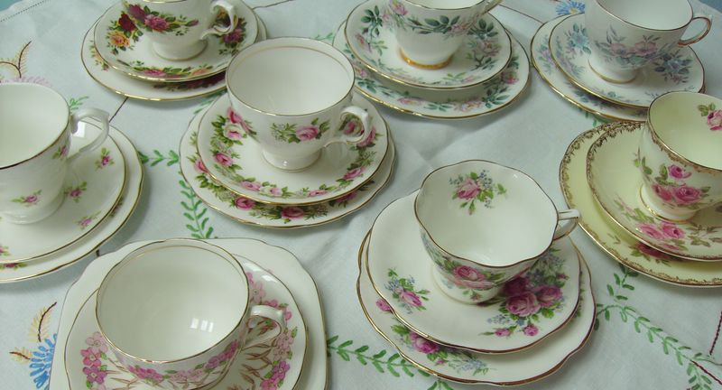 vintage china hire, vintage china aberdeen