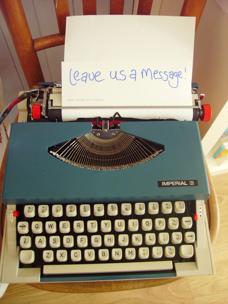 vintage typewriter weddings flourish aberdeen